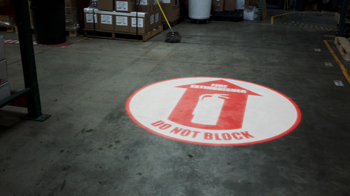 SignCast S300 Virtual Sign - Fire Extinguisher - Do Not Block