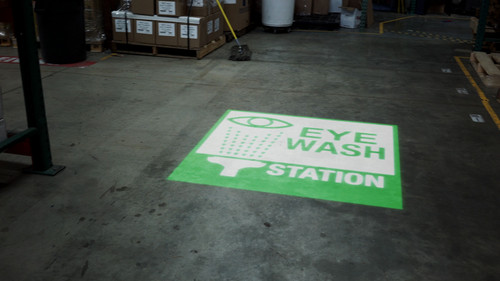SignCast S300 Virtual Sign - Eye Wash Station - Do Not Block