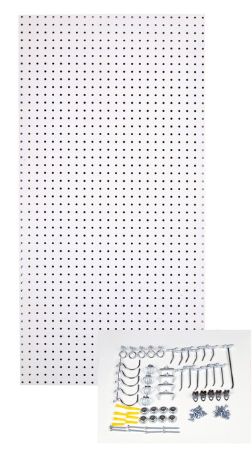 White Tempered Board - 24x48x1/4 - 36 Hooks