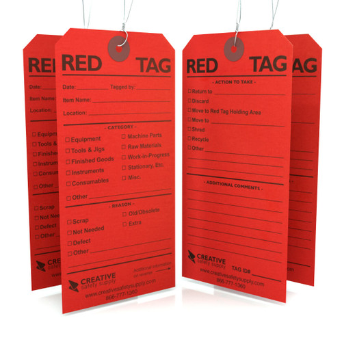 5S Red Tags : Creative Safety Supply