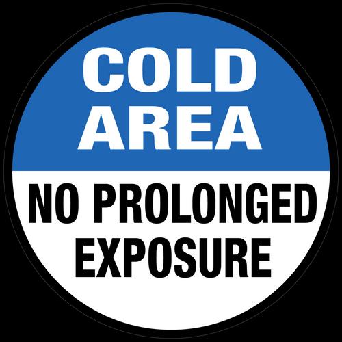 No Prolonged Exposure Floor Sign