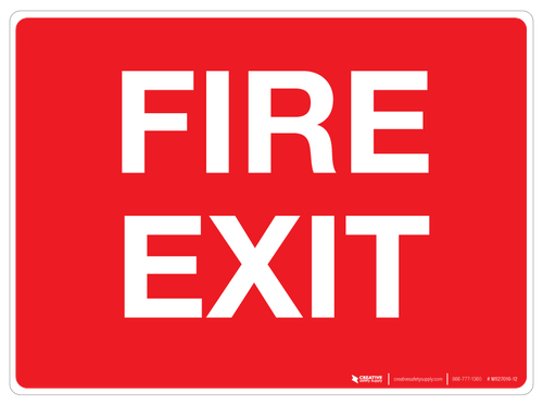 Fire Exit Wall Sign