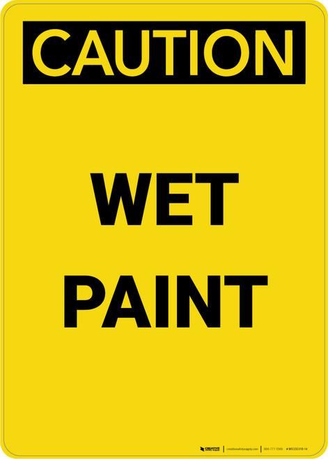 Caution: Wet Paint - Portrait Wall Sign