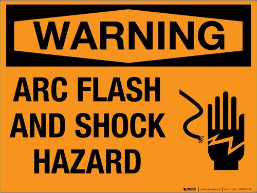 Warning: Arc Flash and Shock Hazard - Wall Sign