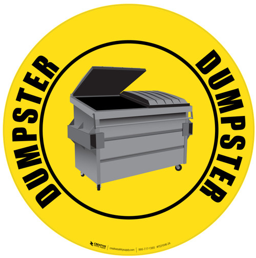 Dumpster - Floor Sign