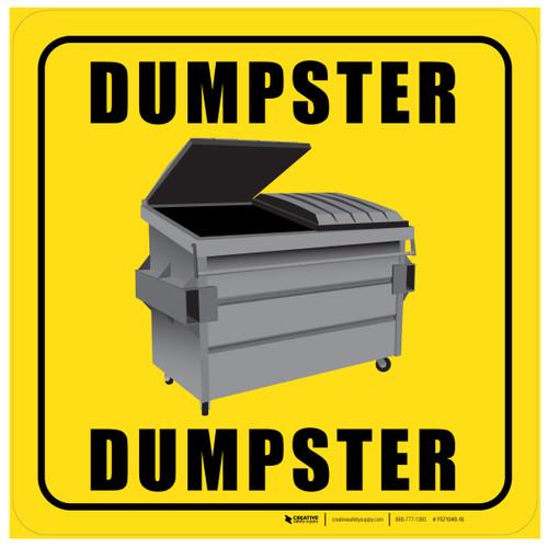 Dumpster (Square) - Floor Sign