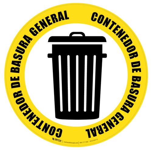 Contenedor de Basura General (General Trash Can) Icon - Floor Sign