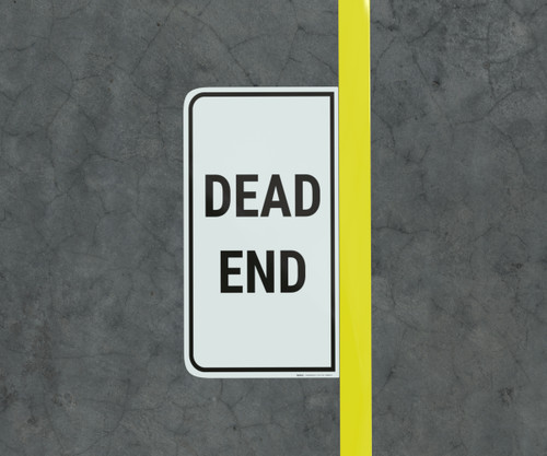 Dead End - Floor Marking Sign