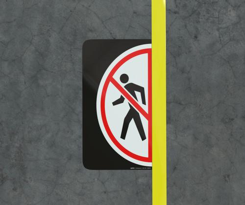 No Pedestrians - Floor Marking Sign
