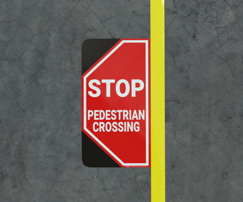 Stop Pedestrian Crossing - Floor Marking Sign