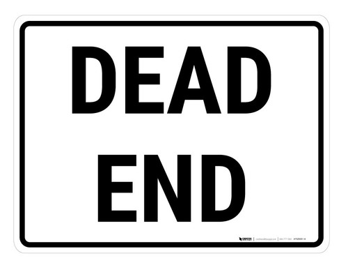 Dead End Rectangle - Floor Marking Sign
