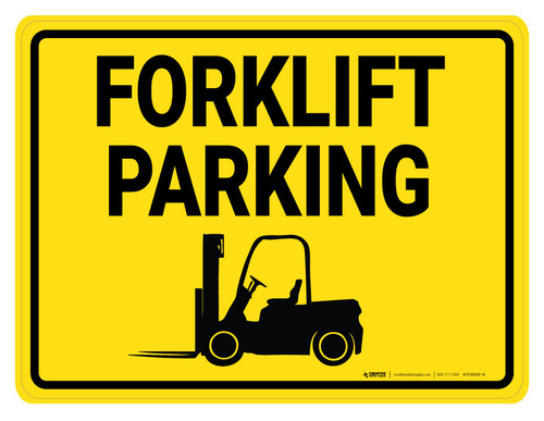 Forklift Parking with Icon - Floor Marking Sign