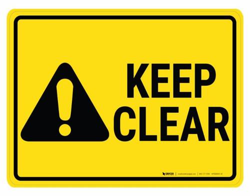 Keep Clear Hazard - Floor Marking Signs