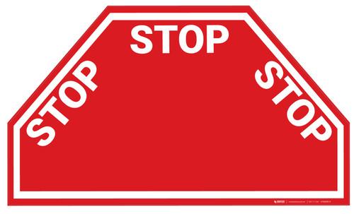 Triple Stop - Floor Marking Sign