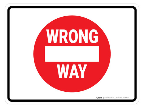 Wrong Way Icon - Floor Marking Sign