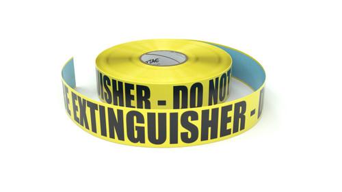 Fire Extinguisher - Do Not Block - Inline Printed Floor Marking Tape