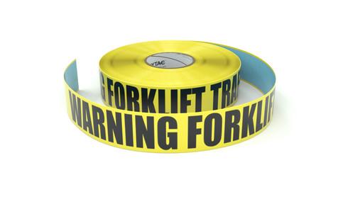 Warning Forklift Traffic - Inline Printed Floor Marking Tape