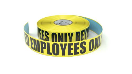 Authorized Employees Only Beyond This Point - Inline Printed Floor Marking Tape