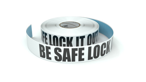 Be Safe Lock IT Out - Inline Printed Floor Marking Tape