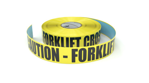 Caution - Forklift Crossing - Inline Printed Floor Marking Tape