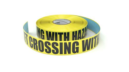 Forklift Crossing with Hazard Stripes - Inline Printed Floor Marking Tape
