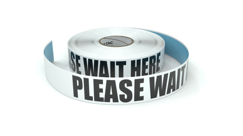 Please Wait Here - Inline Printed Floor Marking Tape