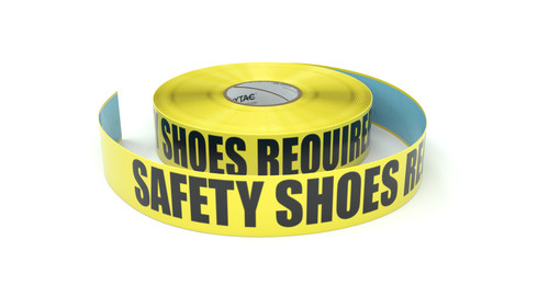 Safety Shoes Required - Inline Printed Floor Marking Tape