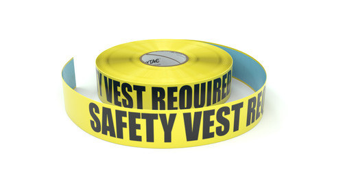 Safety Vest Required - Inline Printed Floor Marking Tape
