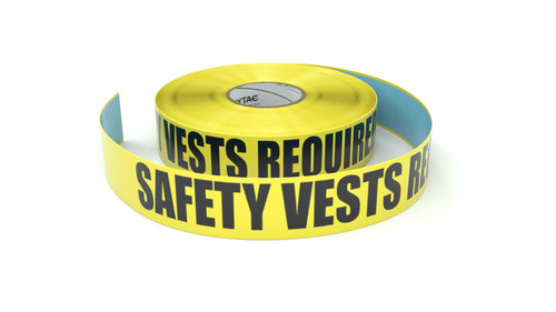 Safety Vests Required - Inline Printed Floor Marking Tape