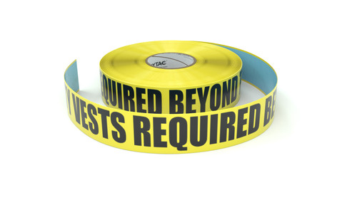 Safety Vests Required Beyond This Point - Inline Printed Floor Marking Tape