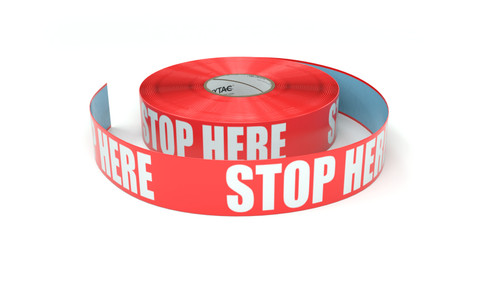 Stop Here - Inline Printed Floor Marking Tape