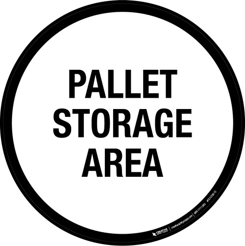 Pallet Storage Area Floor Sign