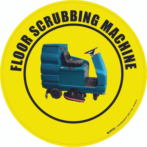 Floor Scrubbing Machine Floor Sign