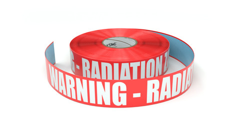 Warning - Radiation Zone - Inline Printed Floor Marking Tape