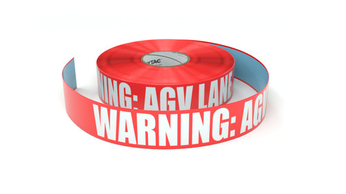 Warning: AGV Lane - Inline Printed Floor Marking Tape