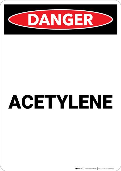 Acetylene - Portrait Wall Sign