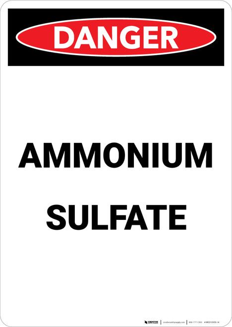 Ammonian Sulfate - Portrait Wall Sign