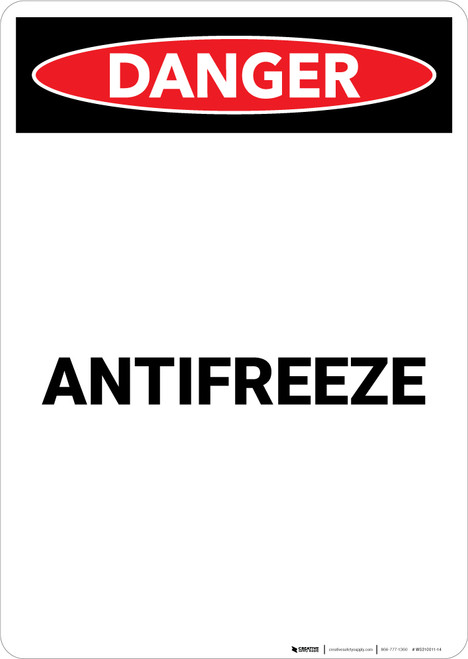 Antifreeze - Portrait Wall Sign