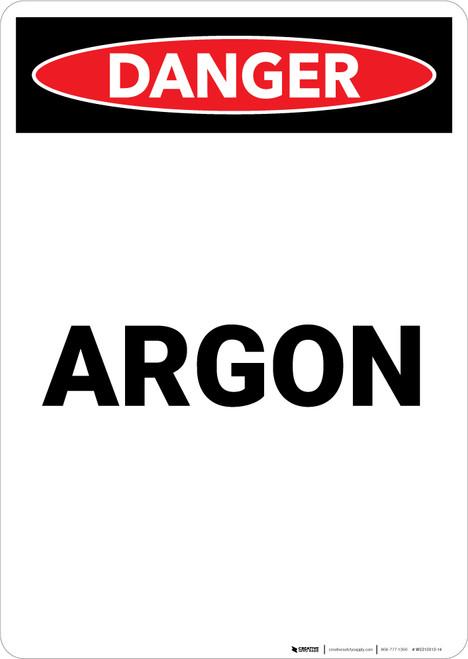 Argon - Portrait Wall Sign