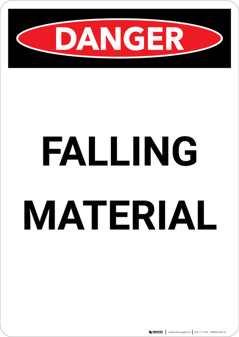 Falling Material - Portrait Wall Sign