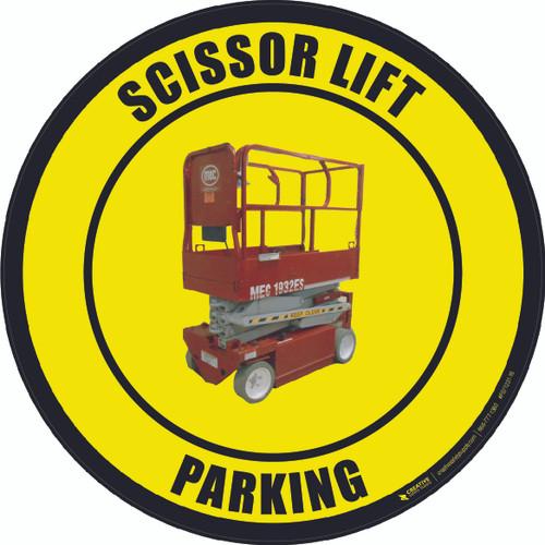 Scissor Lift Parking (Real) Floor Sign