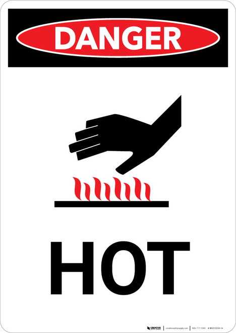 Hot with Icon - Portrait Wall Sign