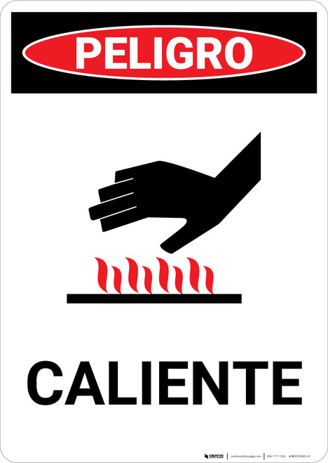 Spanish Hot with Icon - Portrait Wall Sign