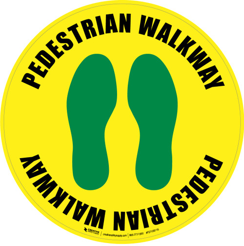Pedestrian Walkway (Footprints) Floor Sign