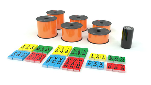 LabelTac® 4 Pro and Pro Model - Orange Ammonia Pipe Marking Supply Bundle
