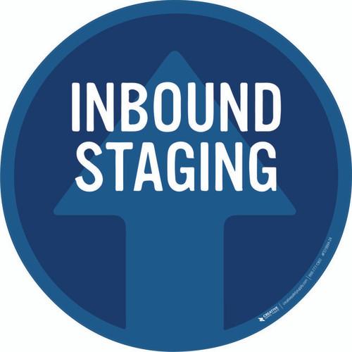 Inbound Staging Floor Sign