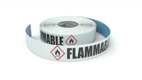GHS: Flammable Icon Horizontal - Inline Printed Floor Marking Tape