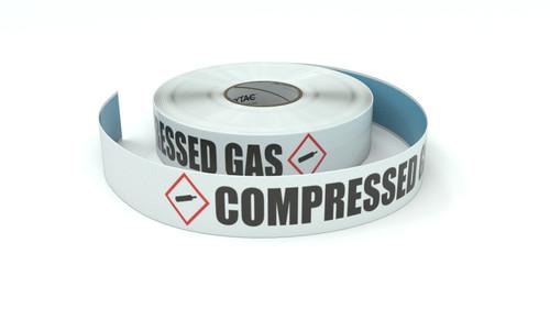 GHS: Compressed Gas - Horizontal - Inline Printed Floor Marking Tape