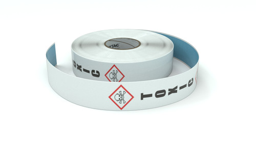 GHS: Toxic Icon Vertical - Inline Printed Floor Marking Tape