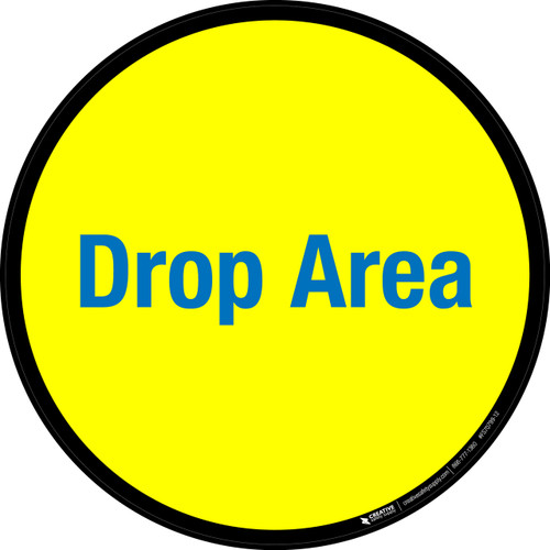 Drop Area Floor Sign